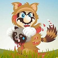 Mario Kills Tanooki 2D